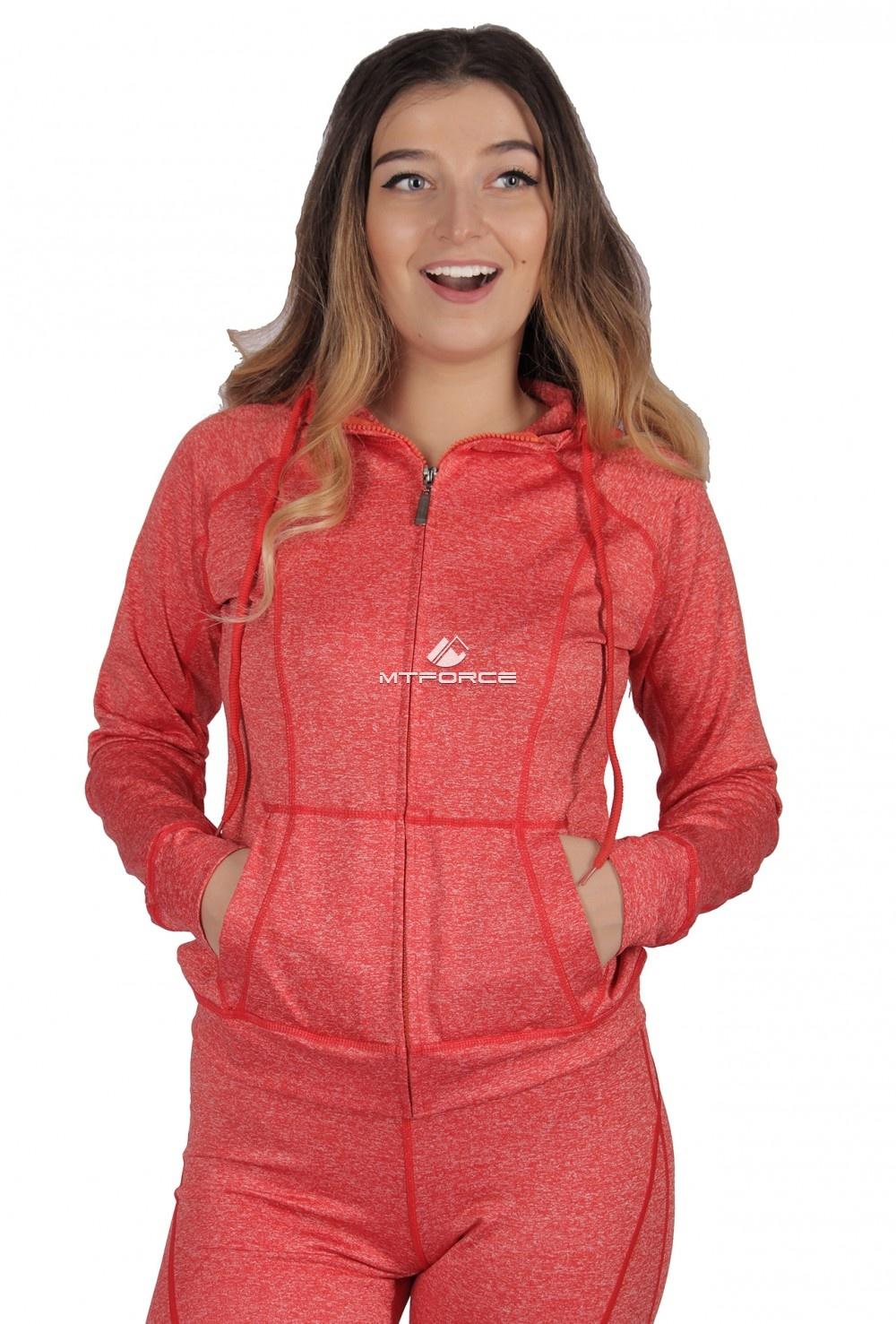 Купить  оптом Толстовка женская спортивная персикового цвета 1020P