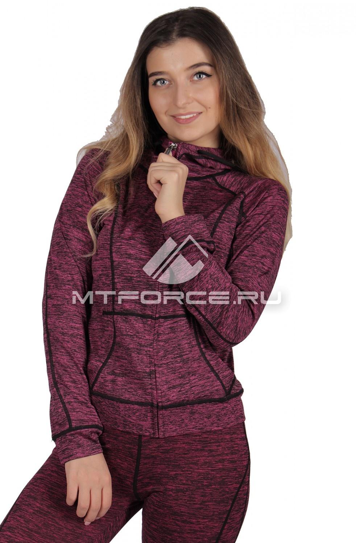 Купить                                  оптом Толстовка женская спортивная фиолетового цвета 1020F в Новосибирске