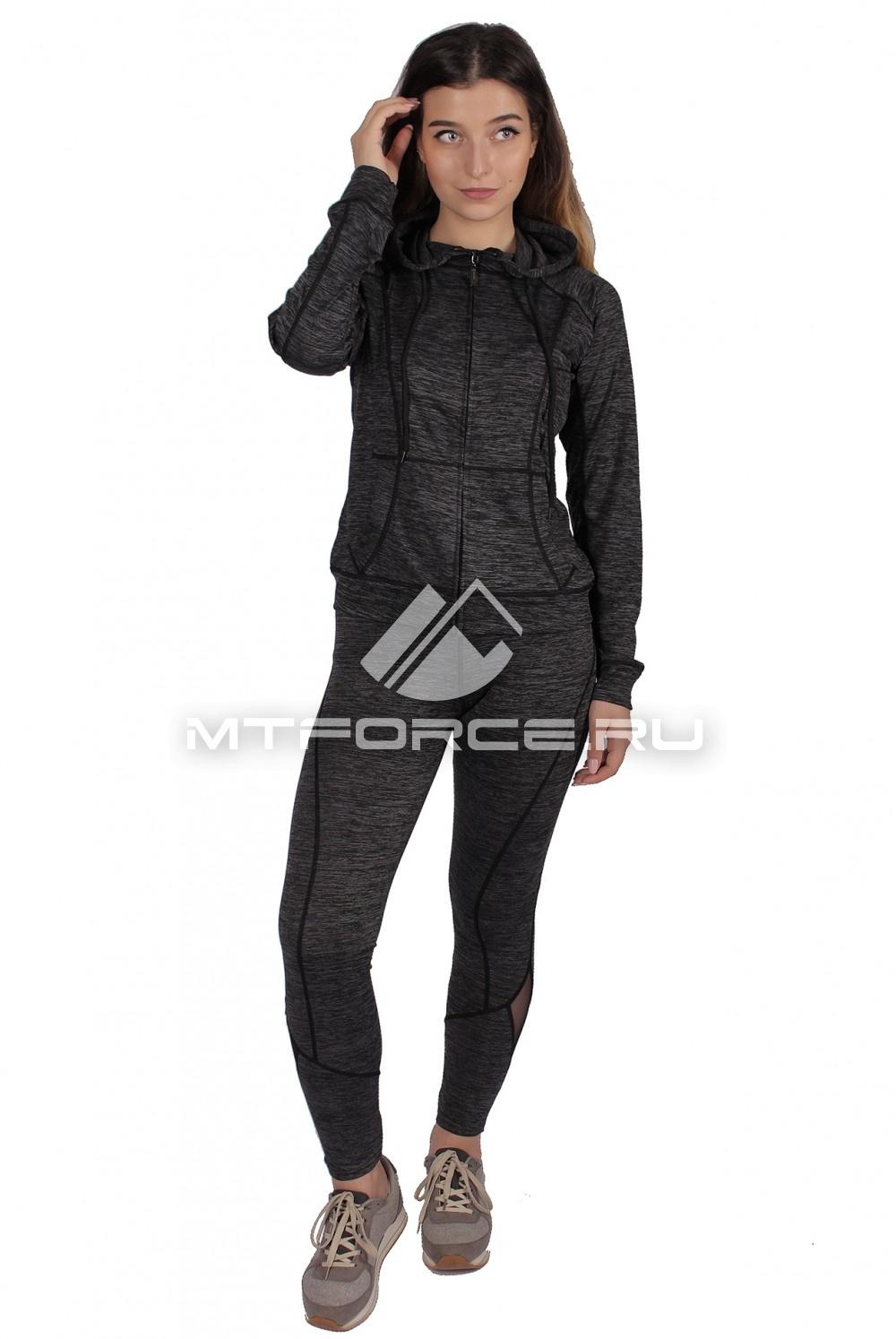 Купить                                  оптом Костюм спортивный женский темно-серого цвета 01020TC в Новосибирске