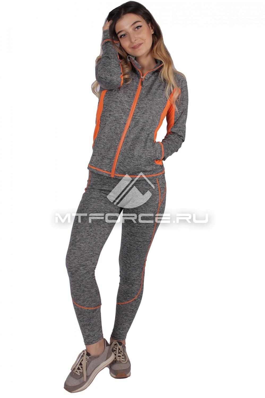 Купить                                  оптом Костюм спортивный женский серого цвета 01021Sr