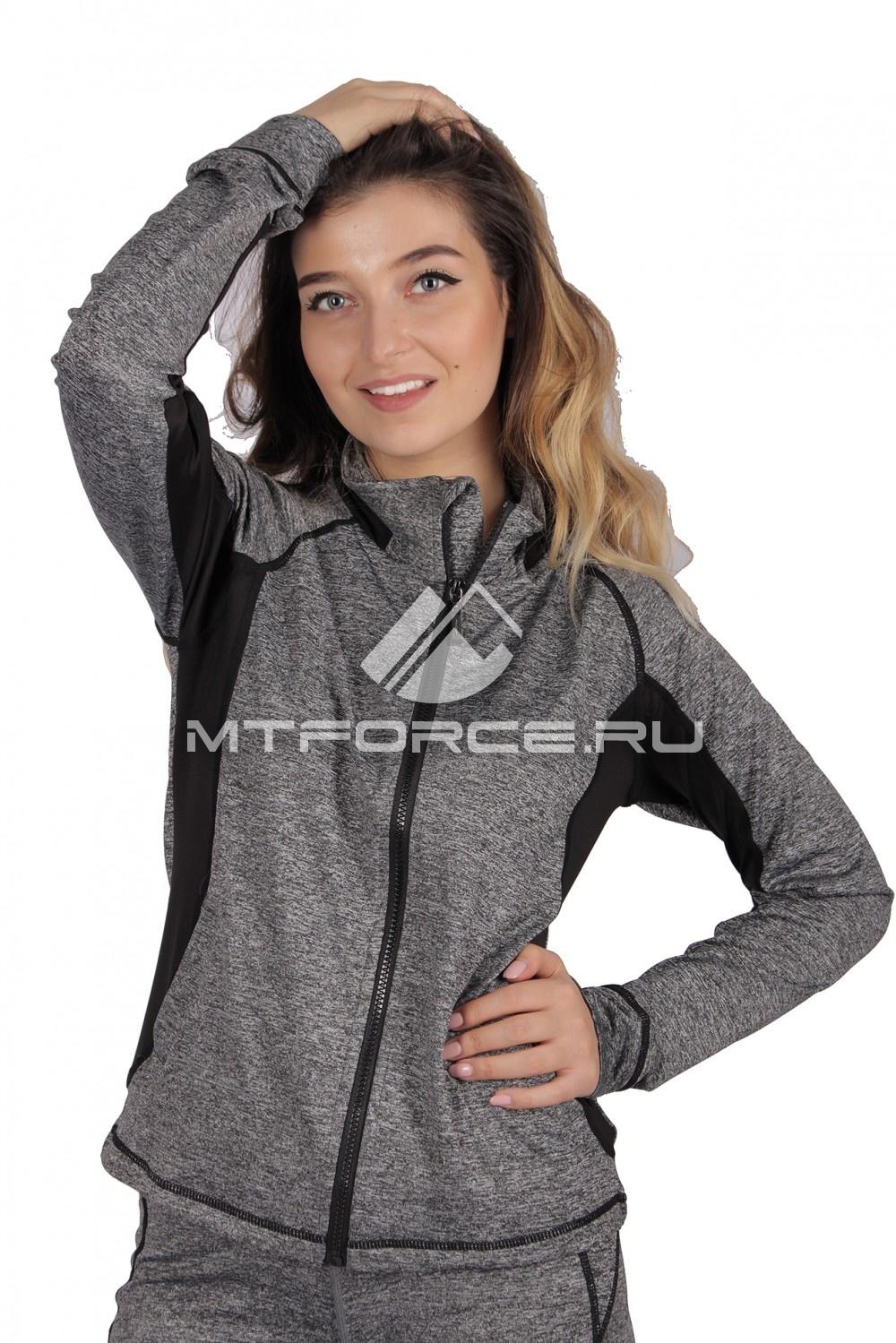 Купить                                  оптом Олимпийка женская спортивная темно-серого цвета 1021ТС в Новосибирске