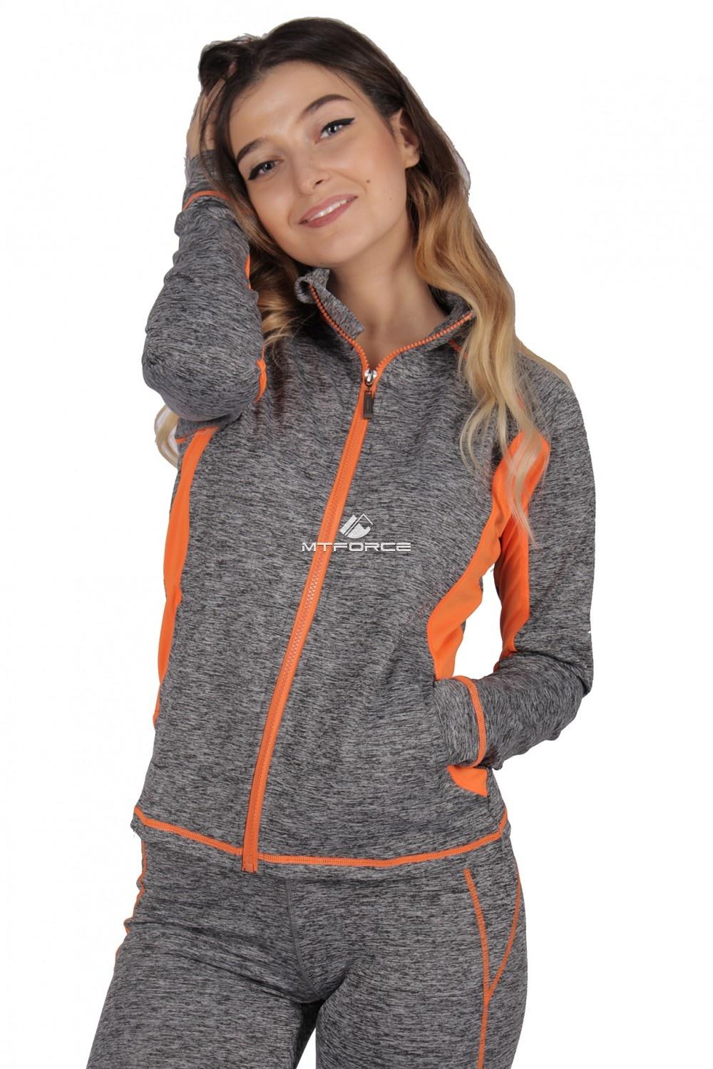 Купить оптом Олимпийка женская спортивная серого цвета 1021Sr в Новосибирске