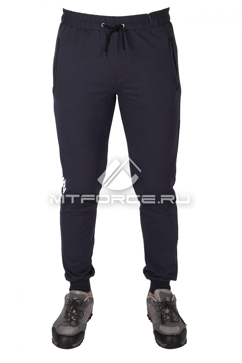 Купить оптом Брюки трикотажные мужские темно-серого цвета 1073TC