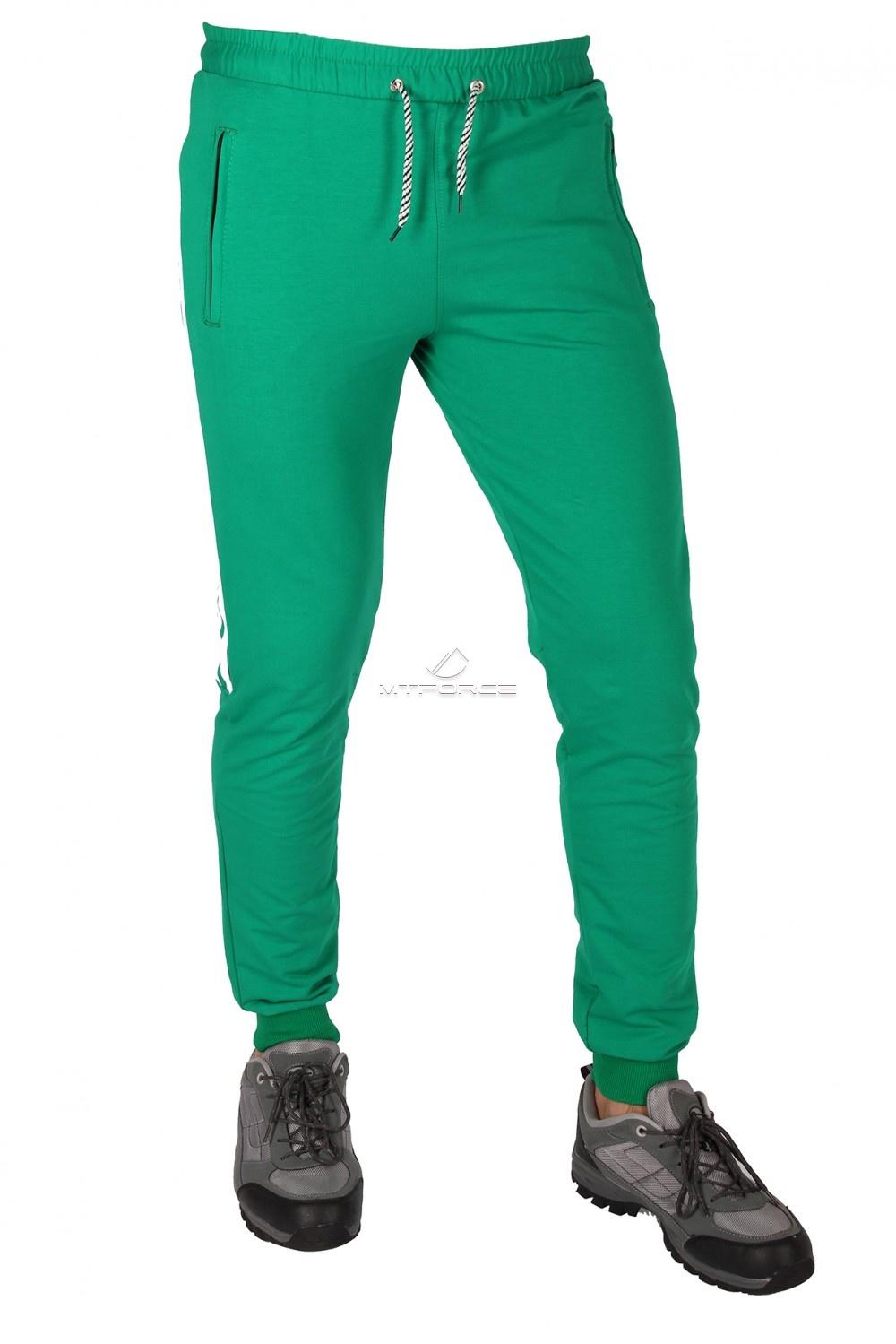 Купить оптом Брюки трикотажные мужские зеленого цвета 1073Z в Челябинске