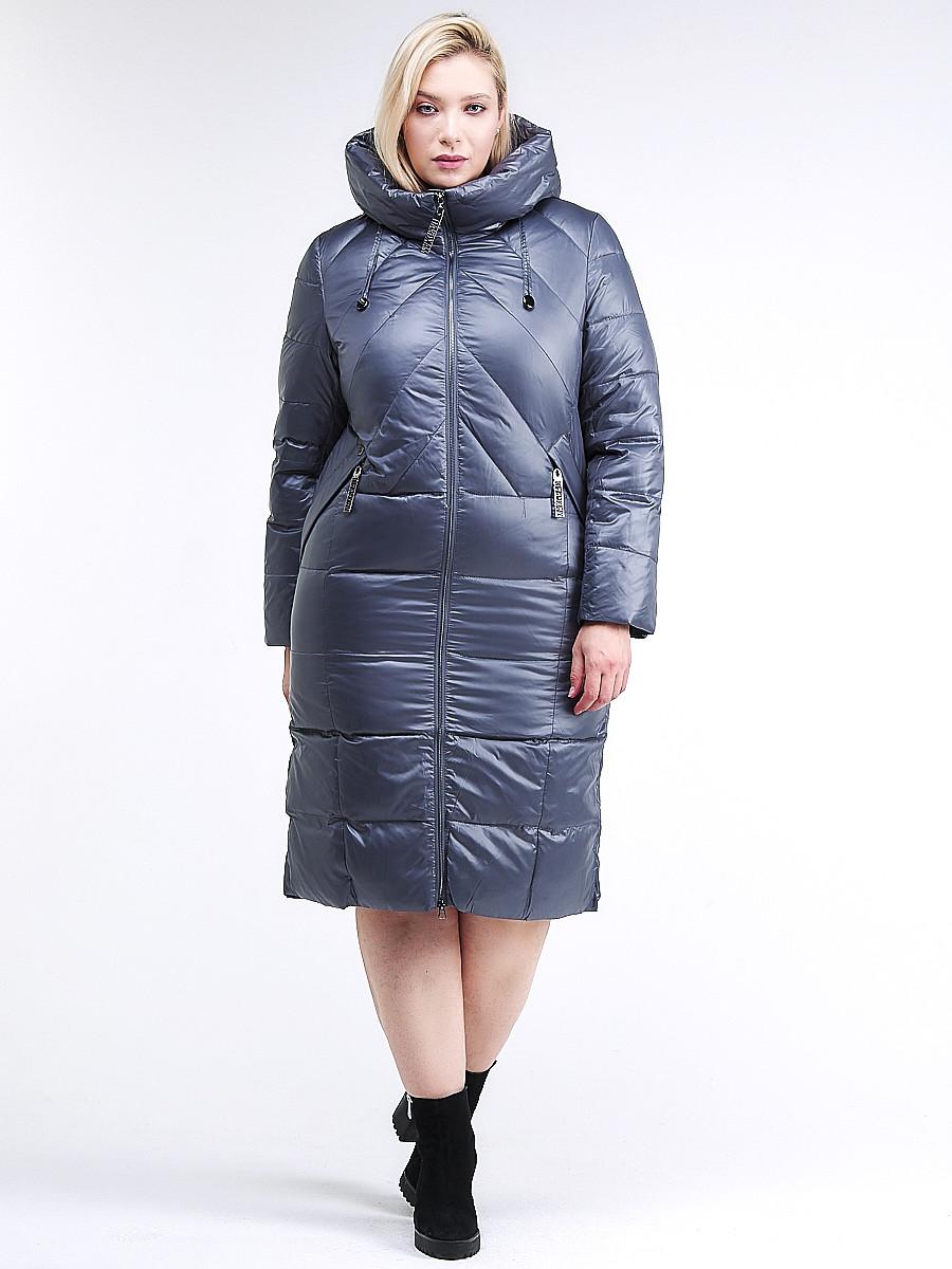 Купить оптом Куртка зимняя женская классическая темно-серого цвета 108-915_25TC в Екатеринбурге