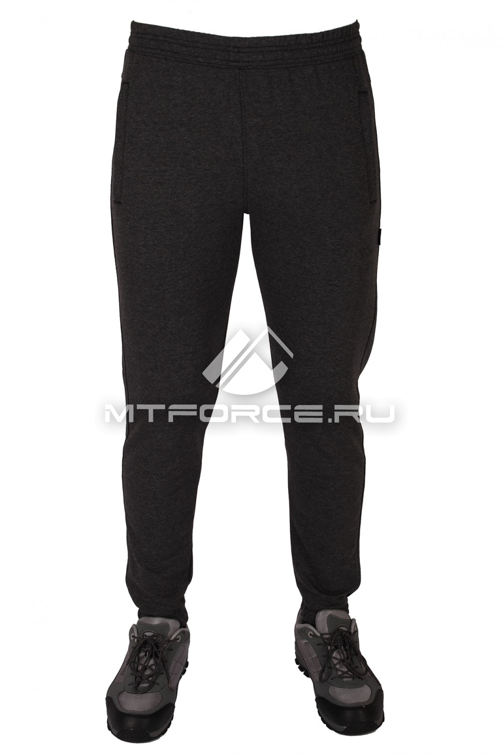 Купить                                  оптом Брюки трикотажные мужские темно-серого цвета 1097TC