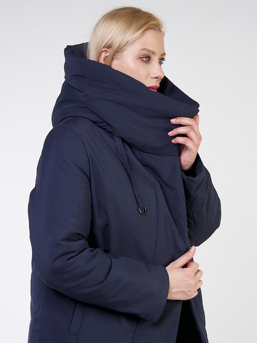 Купить оптом Куртка зимняя женская классическая темно-синего цвета 118-932_15TS