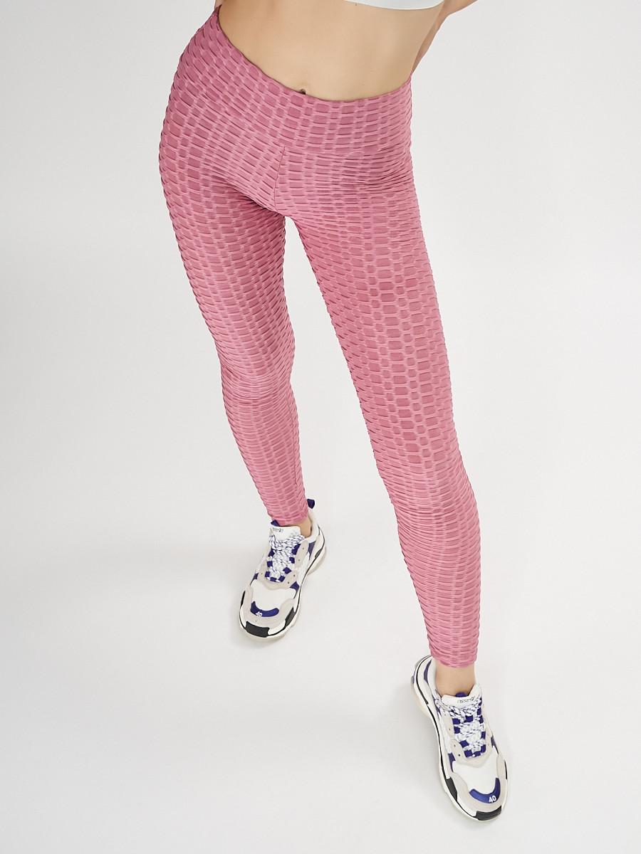 Купить оптом Леггинсы женские фиолетового цвета 1165F в Екатеринбурге