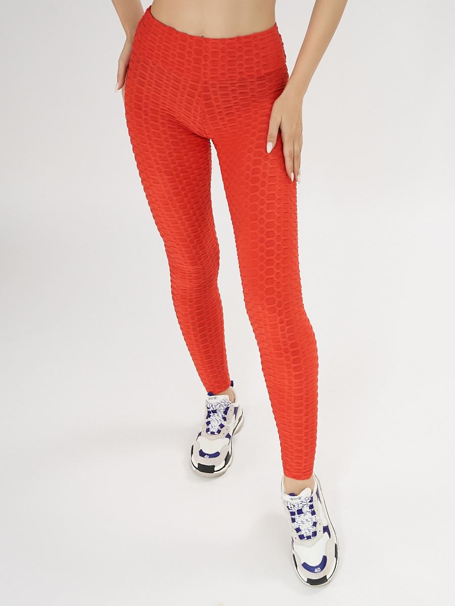 Купить оптом Леггинсы женские красного цвета 1165Kr в Екатеринбурге