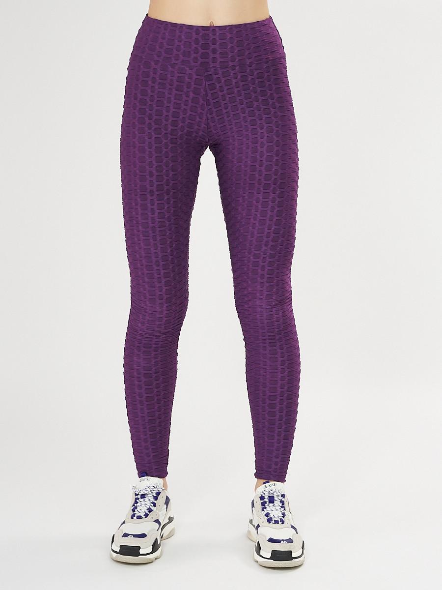 Купить оптом Леггинсы женские темно-фиолетового цвета 1165TF в Екатеринбурге