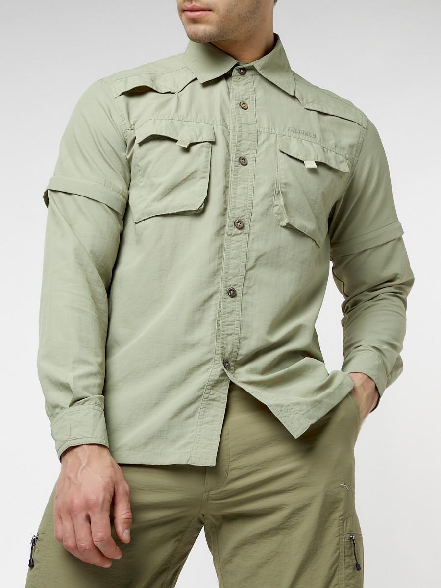 Купить оптом Рубашка классическая мужская бежевого цвета 12003B в Екатеринбурге
