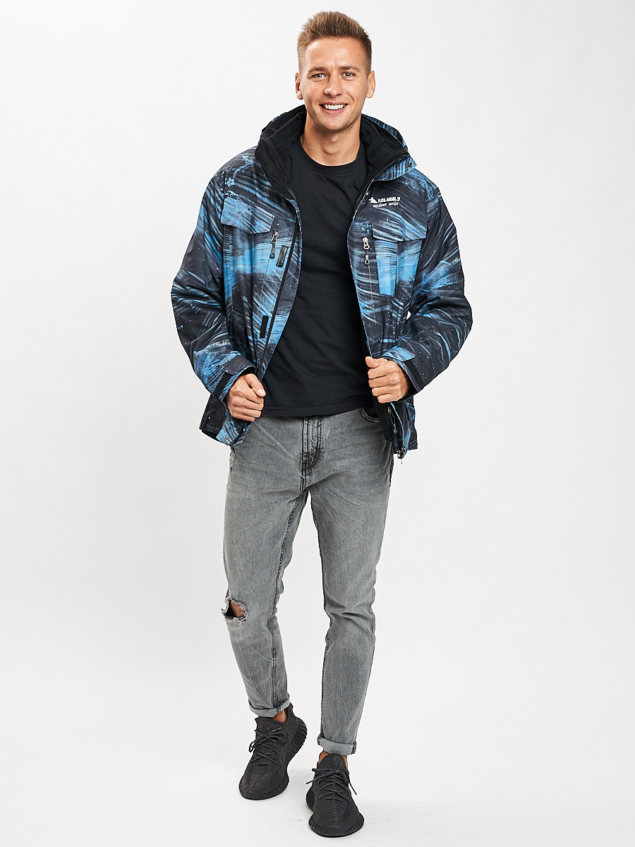 Купить оптом Куртка демисезонная 3 в 1синего цвета 12004S в Екатеринбурге