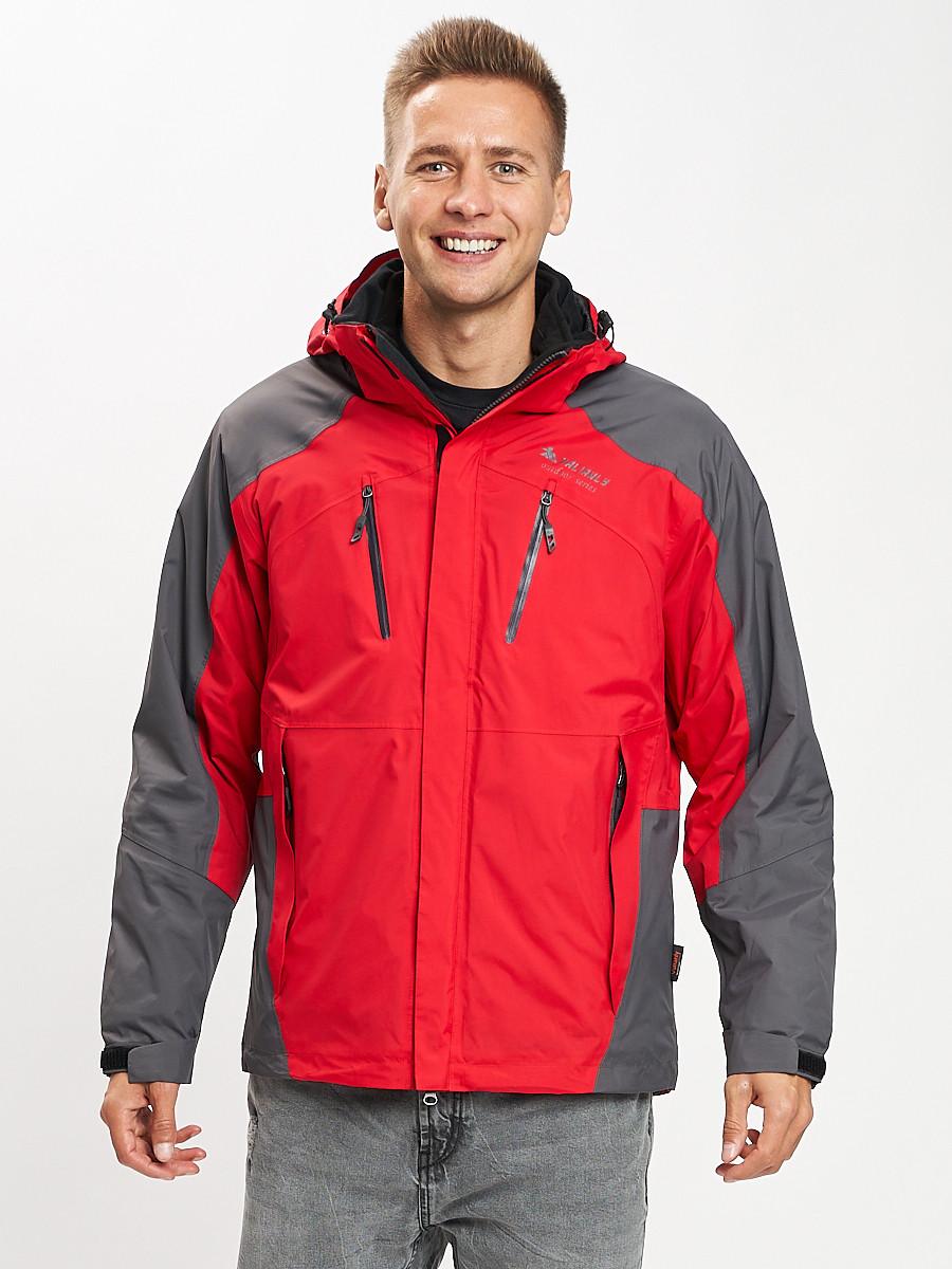 Купить оптом Куртка демисезонная 3 в 1 красного цвета 12005Kr в Екатеринбурге