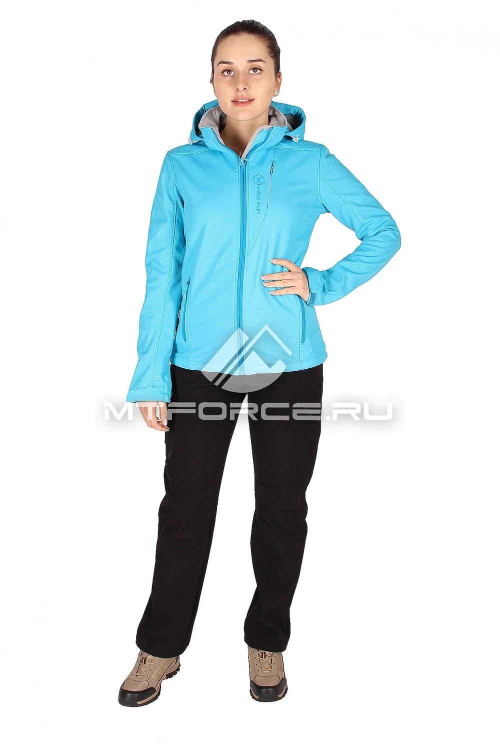 Купить                                  оптом Костюм виндстопер женский голубого цвета 01407Gl