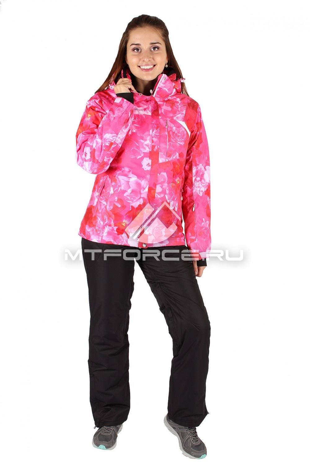 Купить                                  оптом Костюм горнолыжный женский розового цвета 014099R
