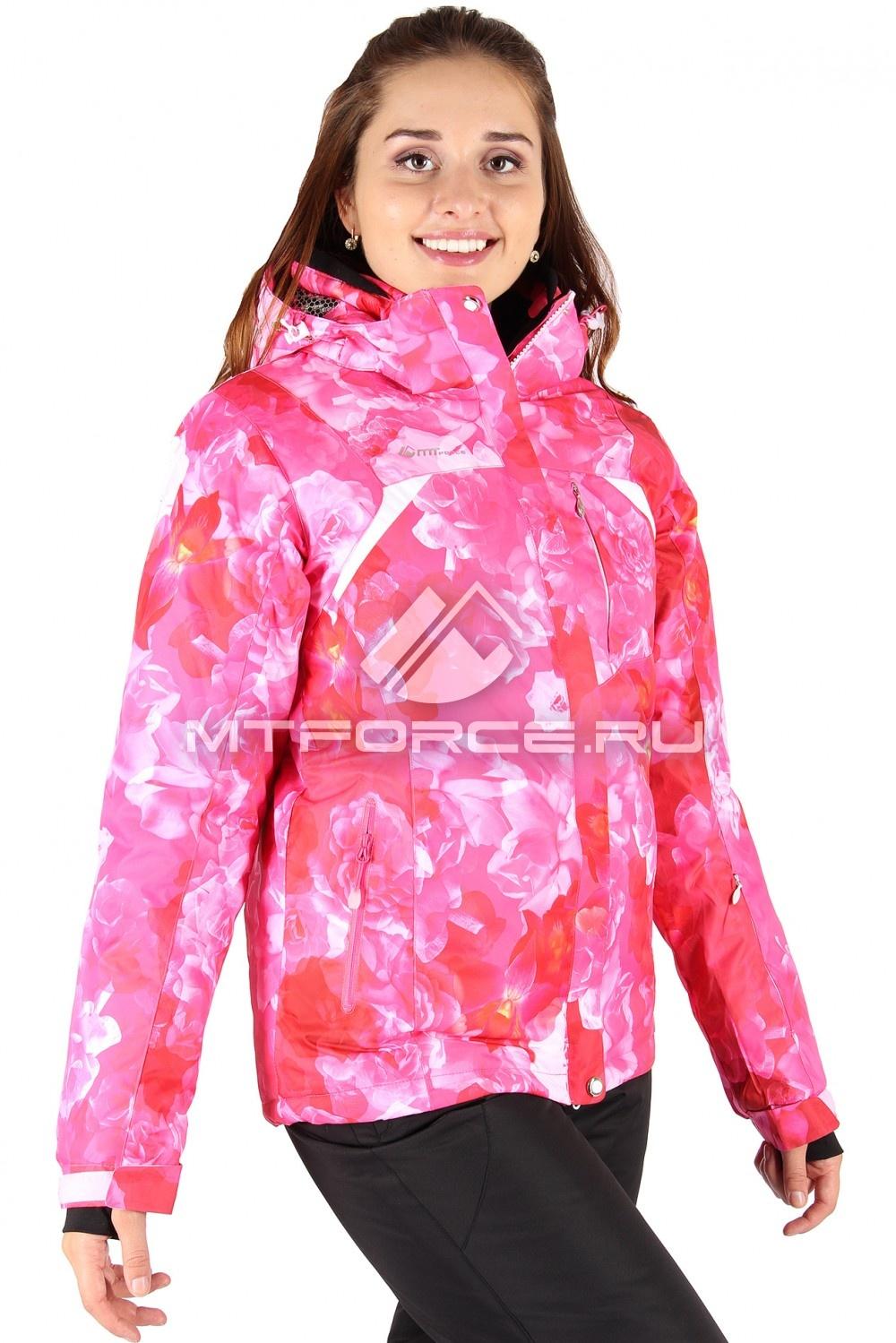 Купить                                  оптом Куртка горнолыжная женская розового цвета 14099R в Санкт-Петербурге