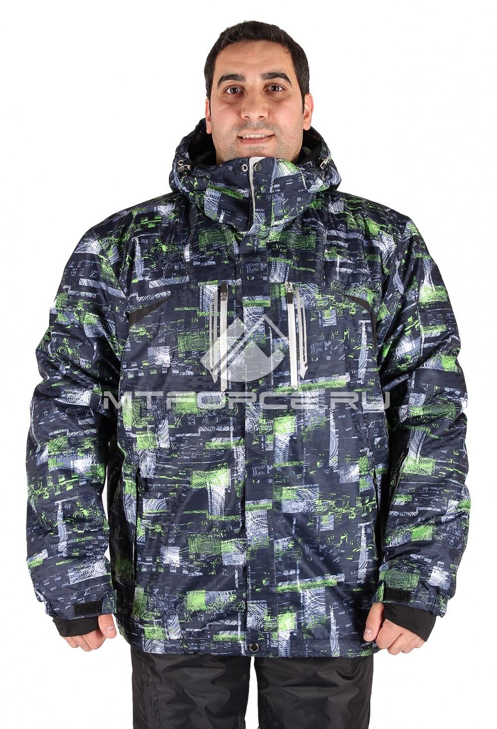 Купить оптом Куртка горнолыжная мужская большого размера зеленого цвета 14101Z