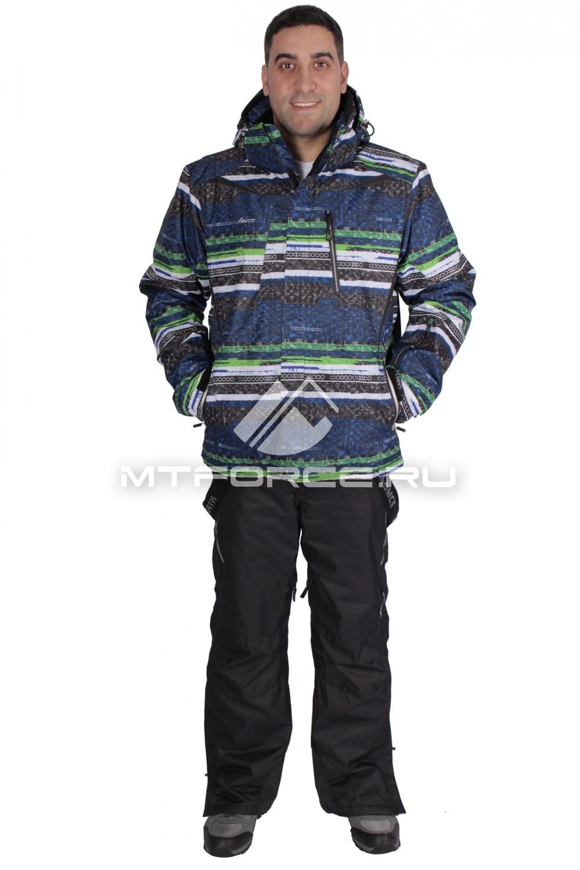 Купить                                  оптом Костюм горнолыжный мужской синего цвета 014102S
