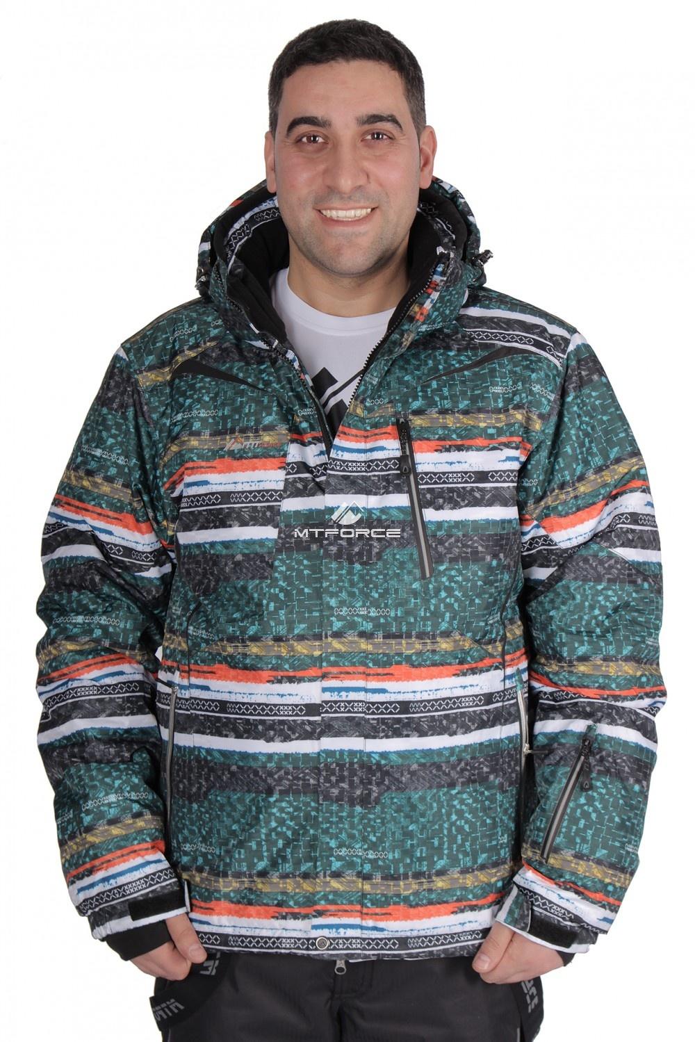 Купить  оптом Куртка горнолыжная мужская зеленого цвета 14102Z