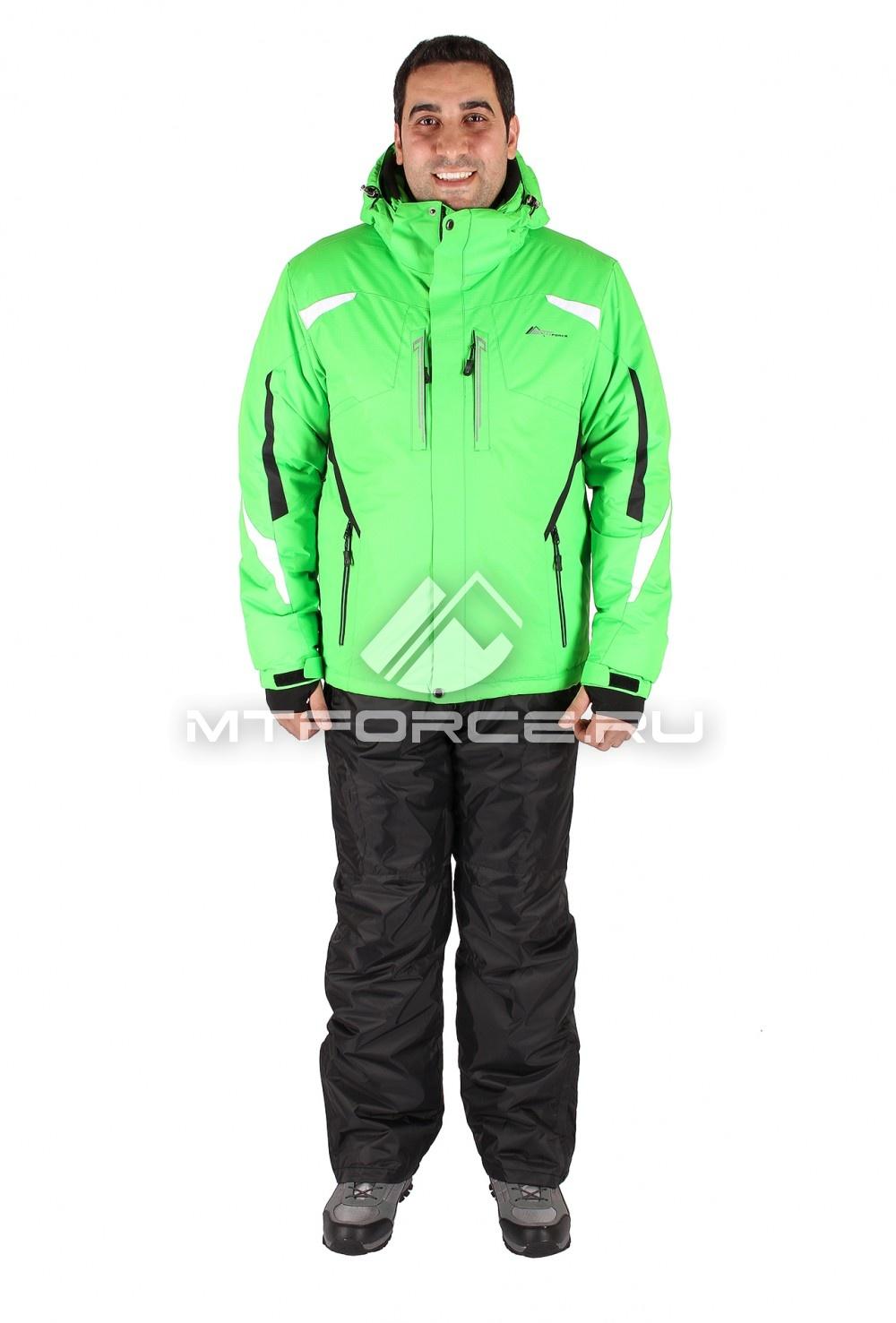 Купить                                  оптом Костюм горнолыжный мужской зеленого цвета 014106Z