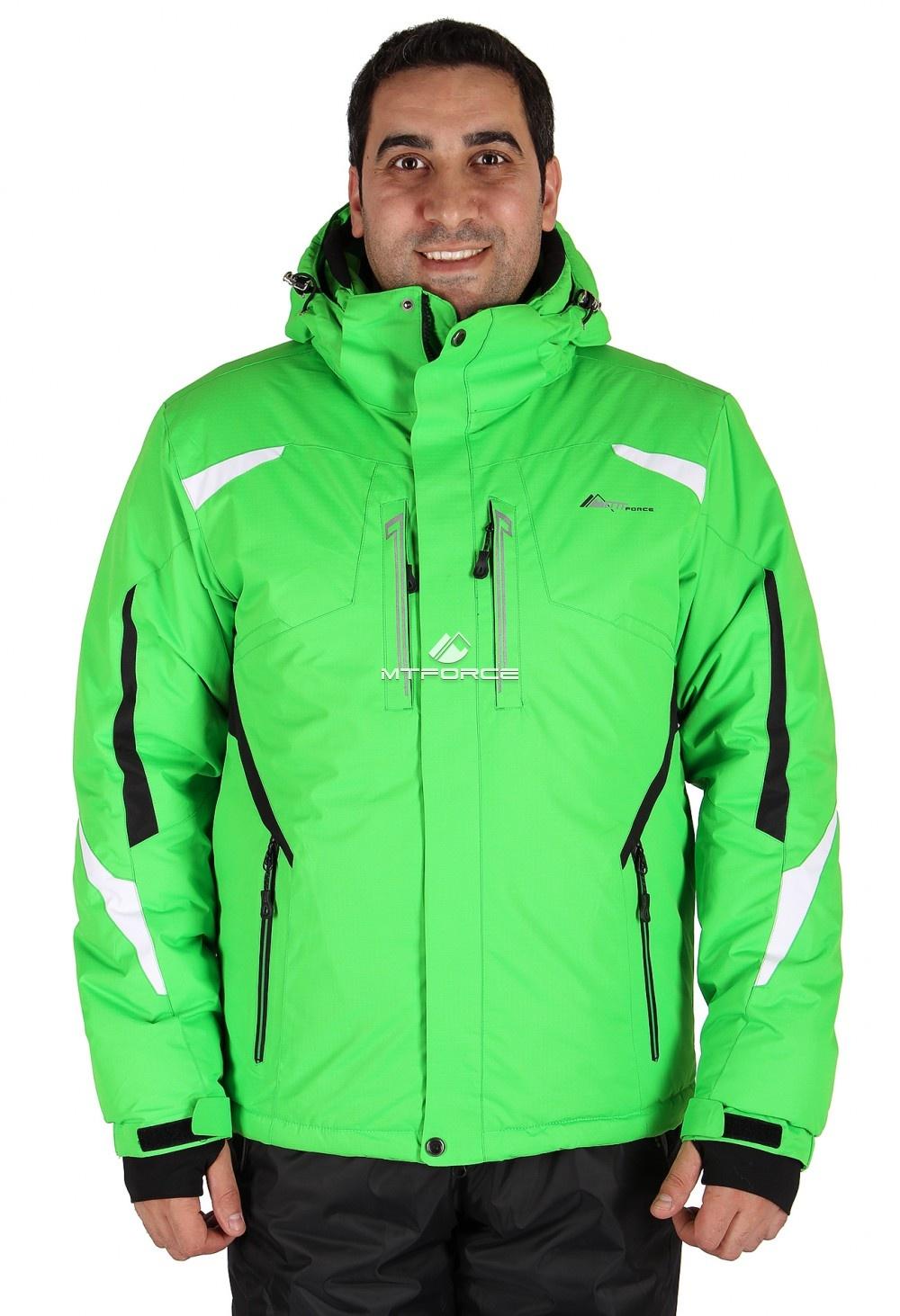 Купить                                  оптом Куртка горнолыжная мужская зеленого цвета 14106Z