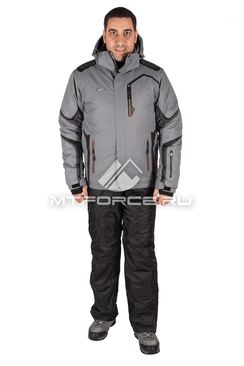 Купить                                  оптом Костюм горнолыжный мужской серого цвета 014121Sr