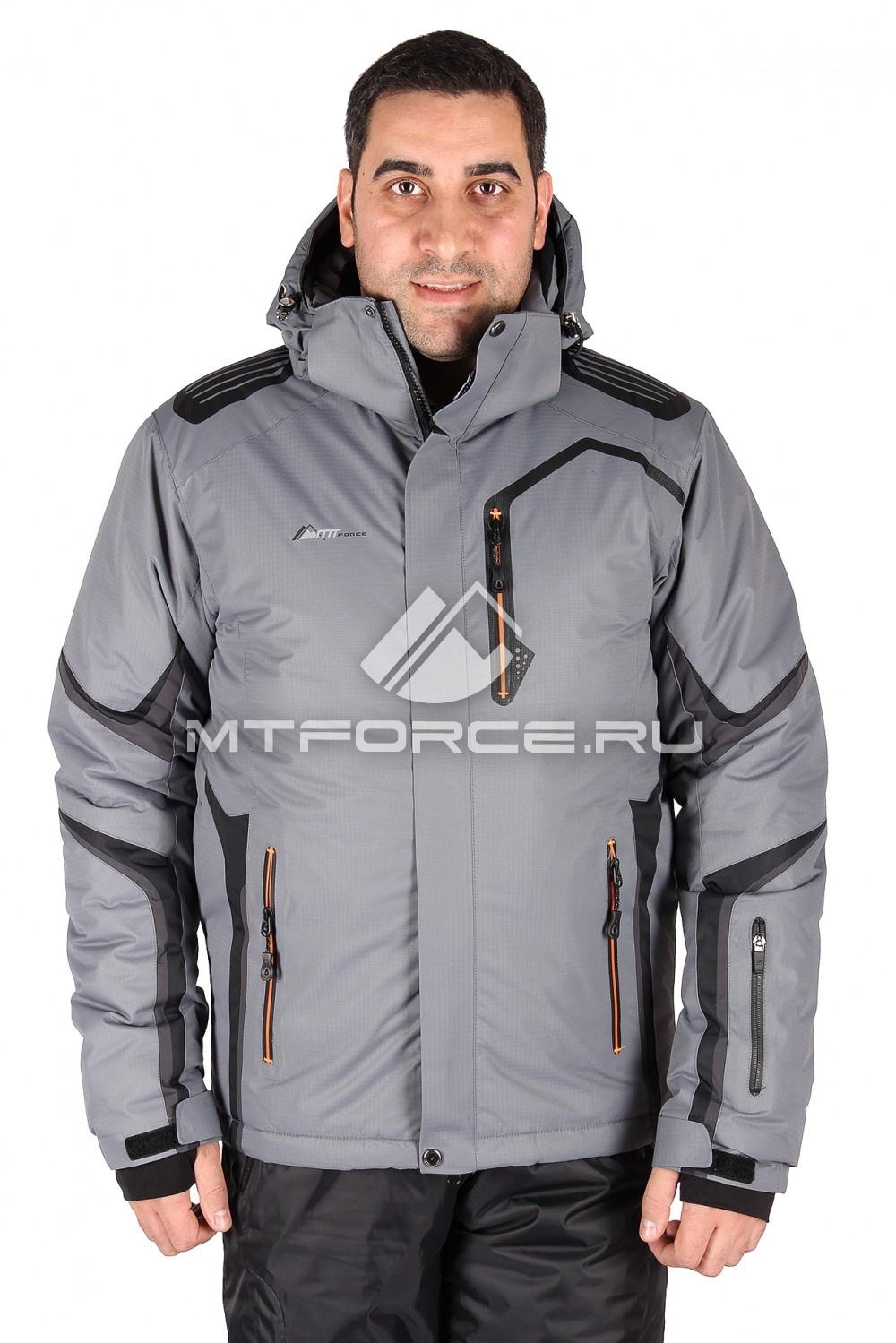 Купить оптом Куртка горнолыжная мужская серого цвета 14121Sr