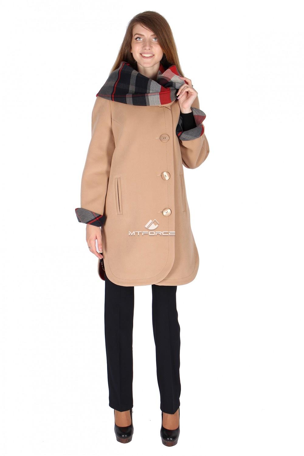 Купить                                  оптом Пальто женское бежевого цвета 14142B