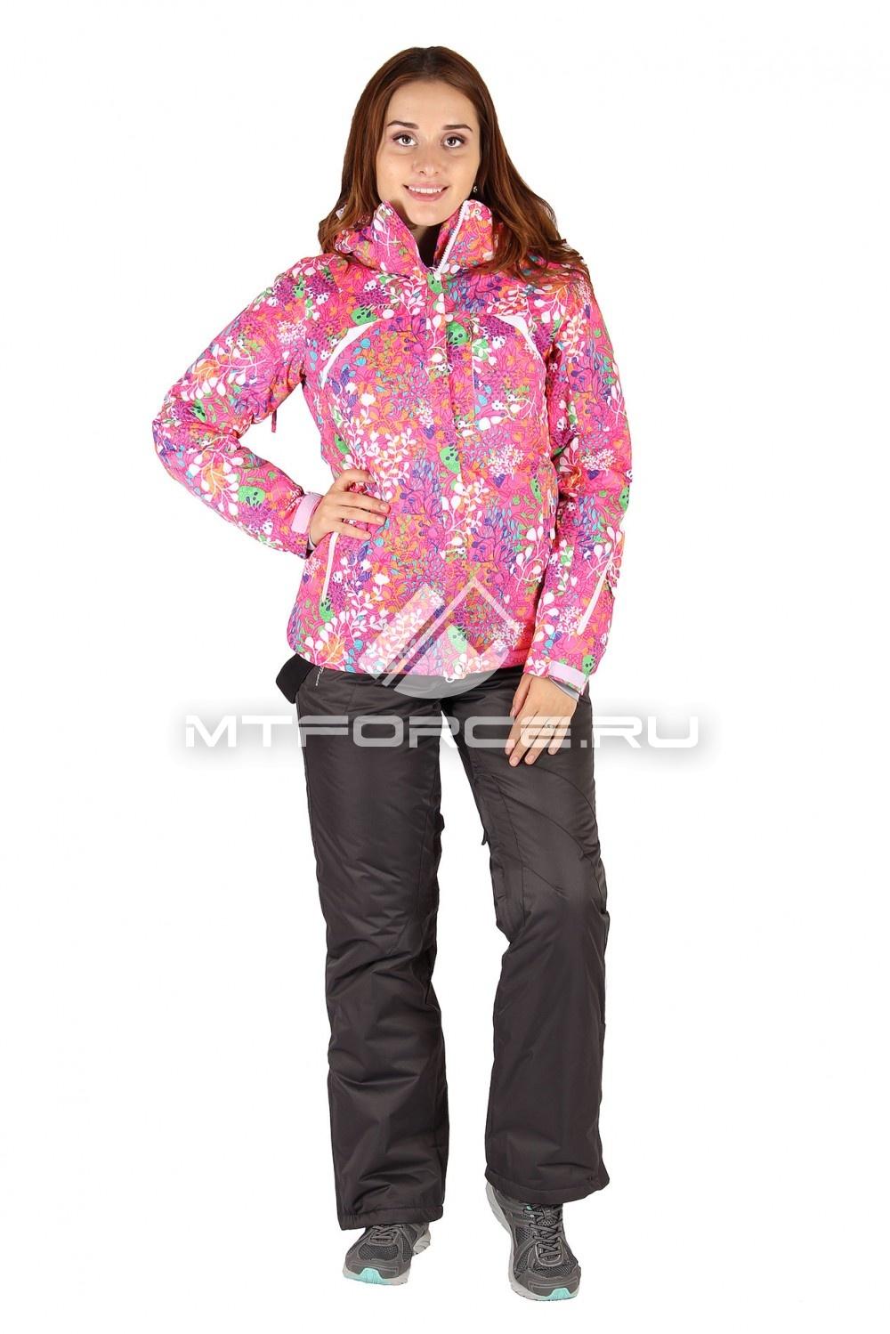 Купить                                  оптом Костюм горнолыжный женский розового цвета 01421R