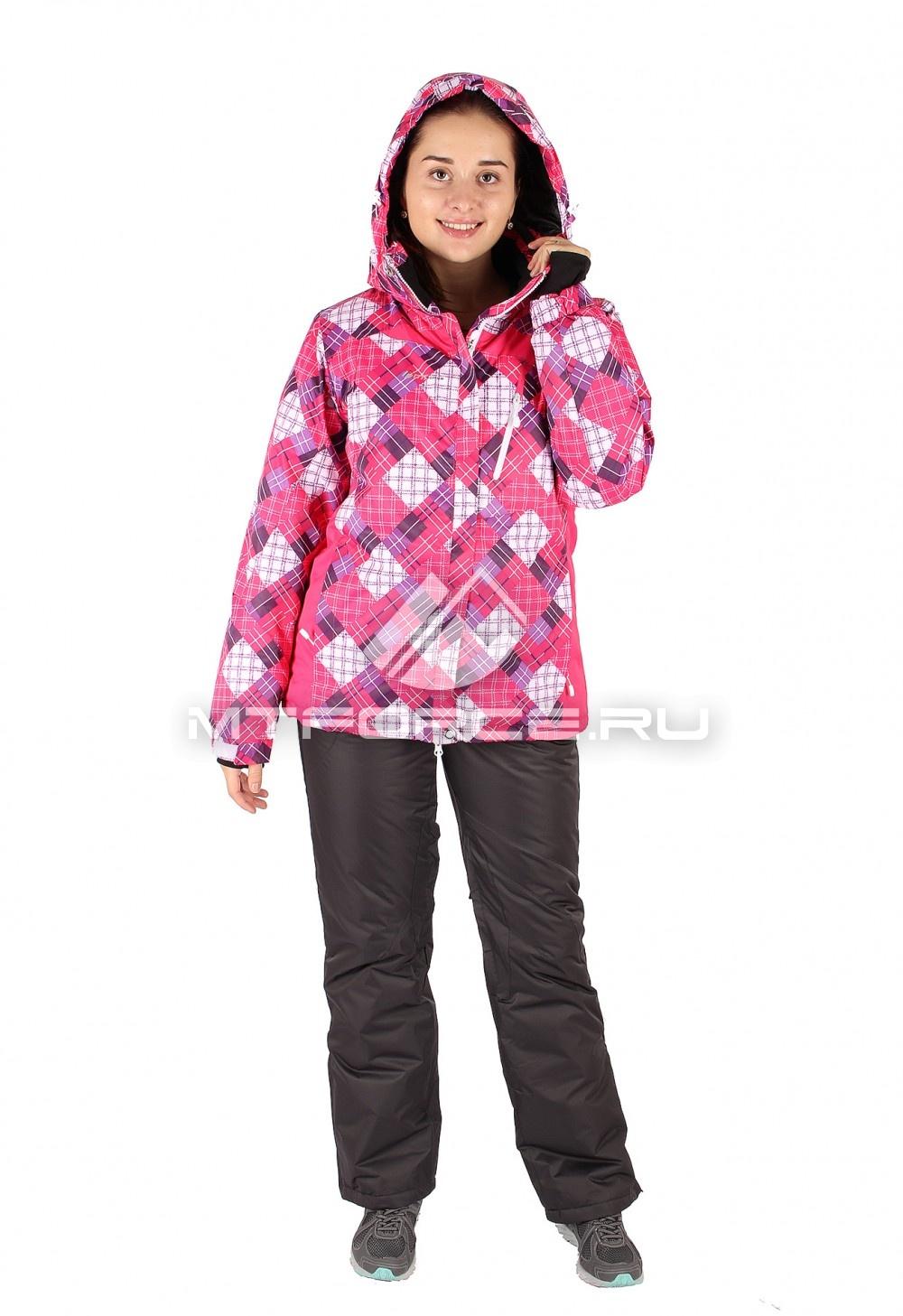 Купить оптом Костюм горнолыжный женский розового цвета 01431R
