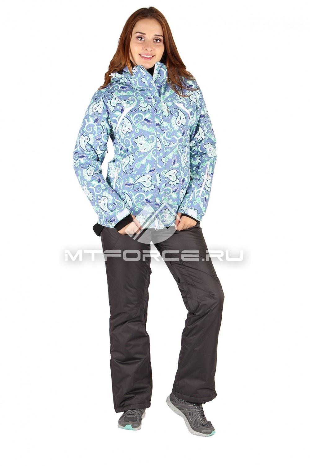 Купить                                  оптом Костюм горнолыжный женский бирюзового цвета 01433Br