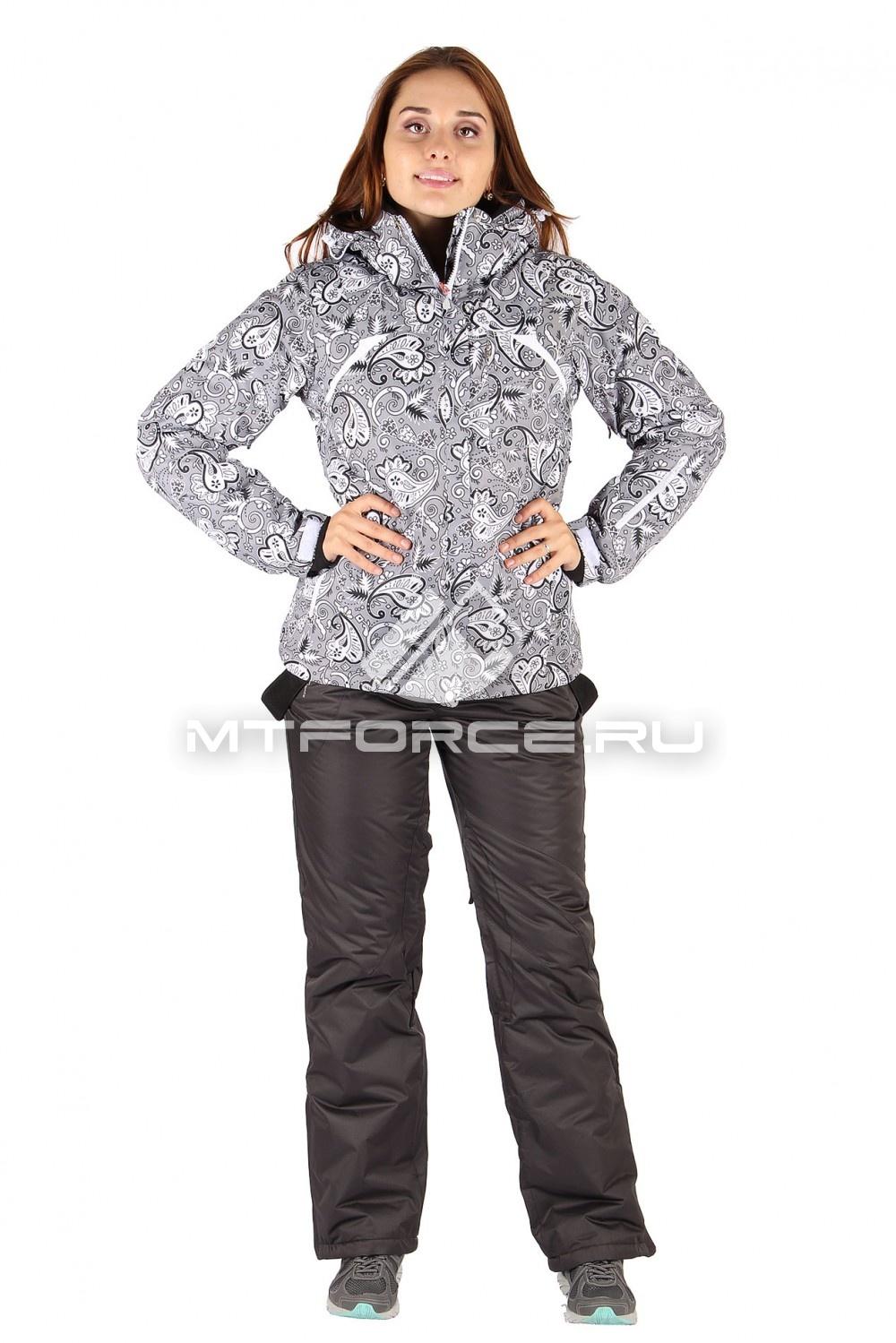 Купить                                  оптом Костюм горнолыжный женский серого цвета 01433Sr