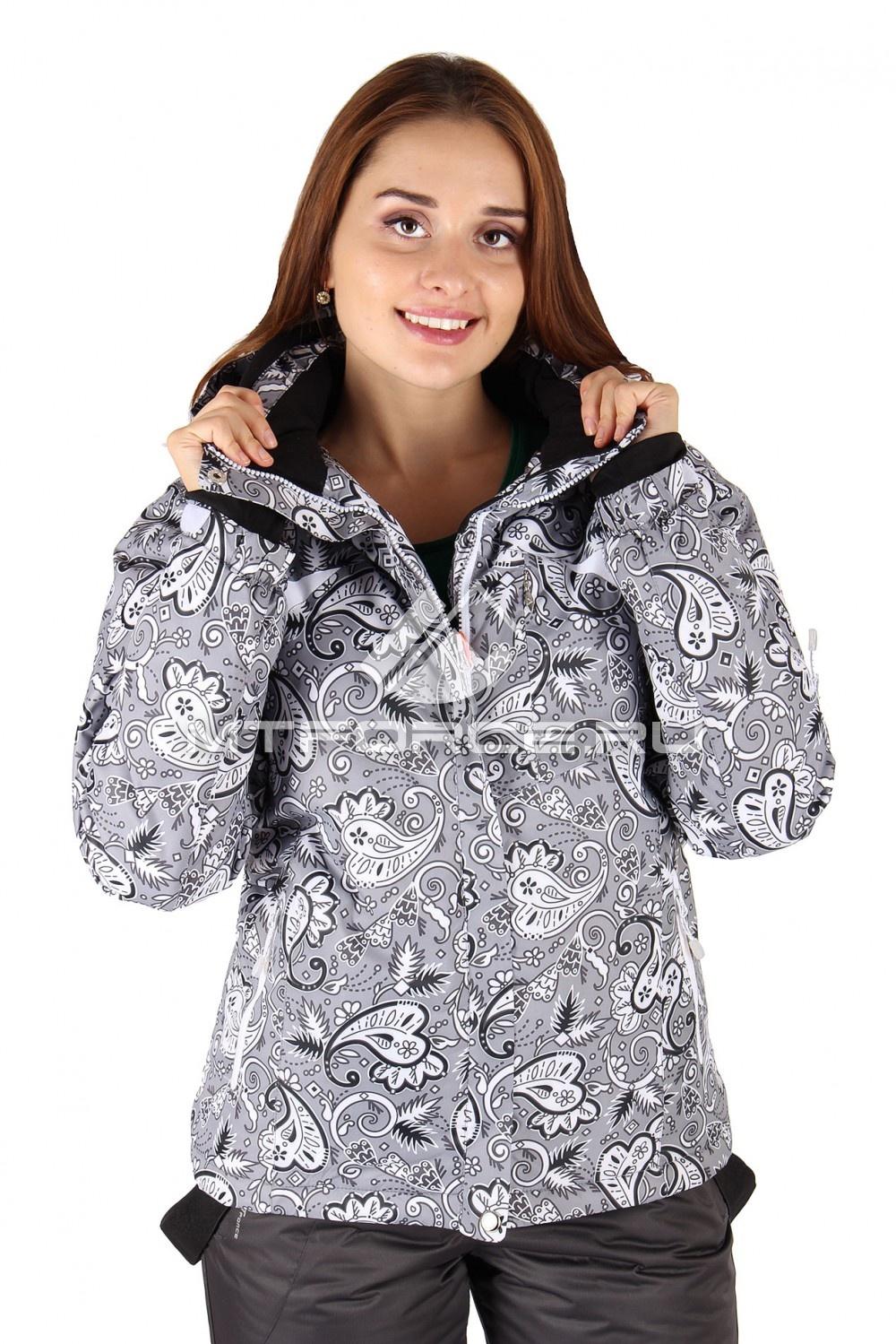 Купить                                  оптом Куртка горнолыжная женская серого цвета 1433Sr