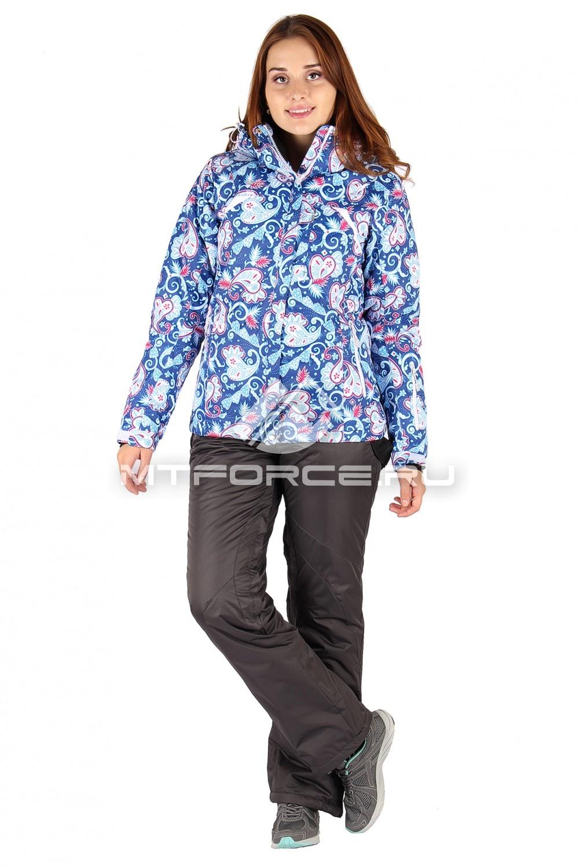 Купить                                  оптом Костюм горнолыжный женский синего цвета 01433S