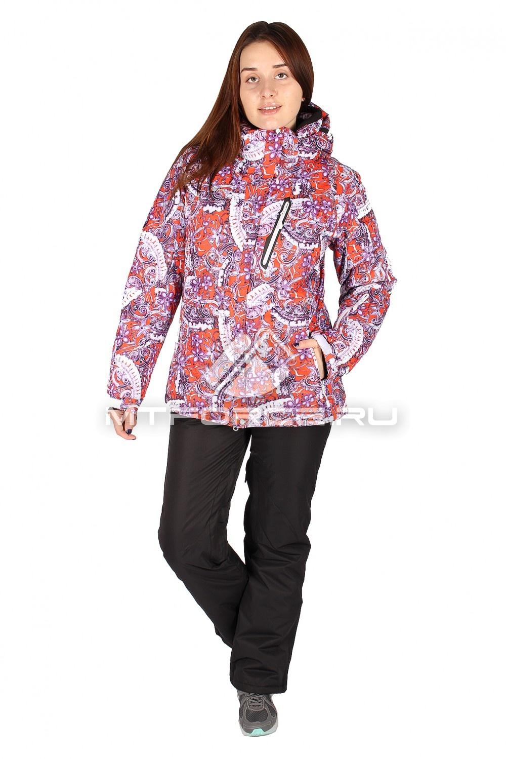 Купить оптом Костюм горнолыжный женский розового цвета 01436R