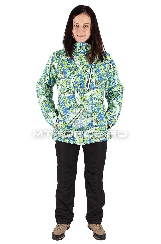 Купить оптом Костюм горнолыжный женский салатового цвета 01436Sl