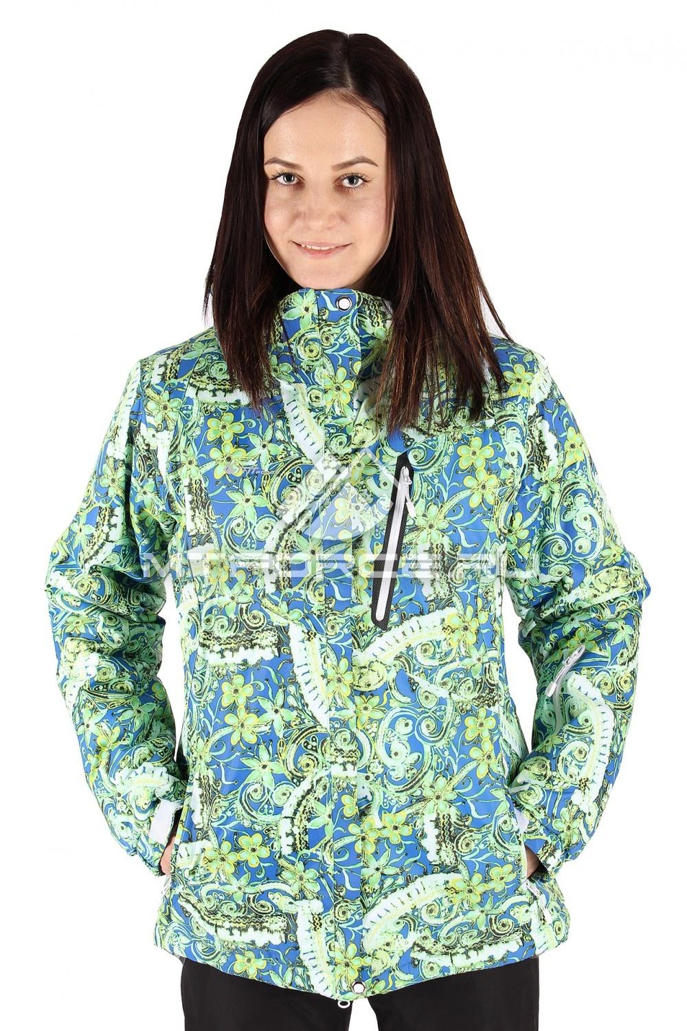 Купить оптом Куртка горнолыжная женская большого размера салатового цвета 1436Sl