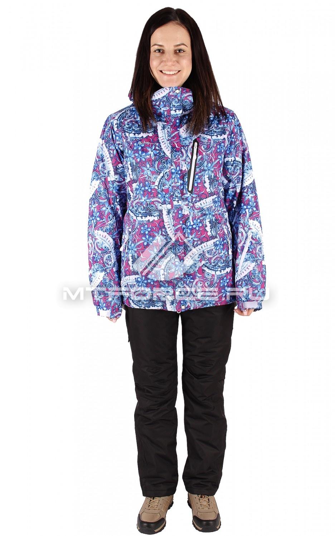 Купить                                  оптом Костюм горнолыжный женский синего цвета 01436S