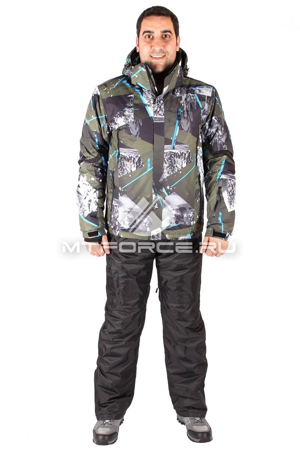 Купить                                  оптом Костюм горнолыжный мужской цвета хаки 01437Kh