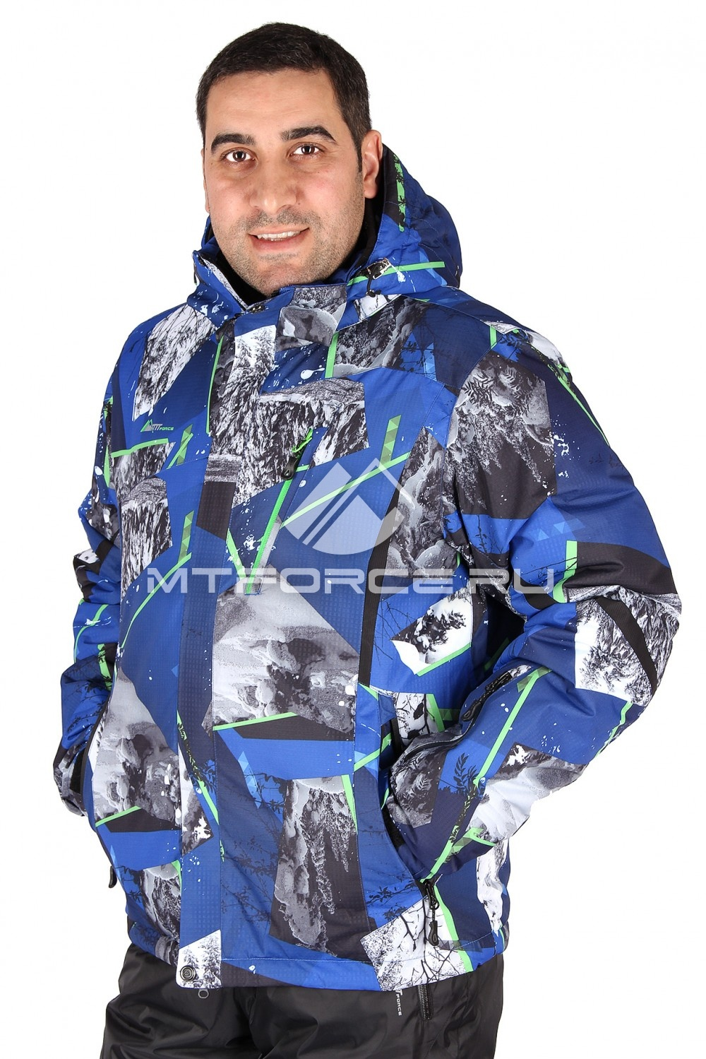 Купить                                  оптом Куртка горнолыжная мужская синего цвета 1437S