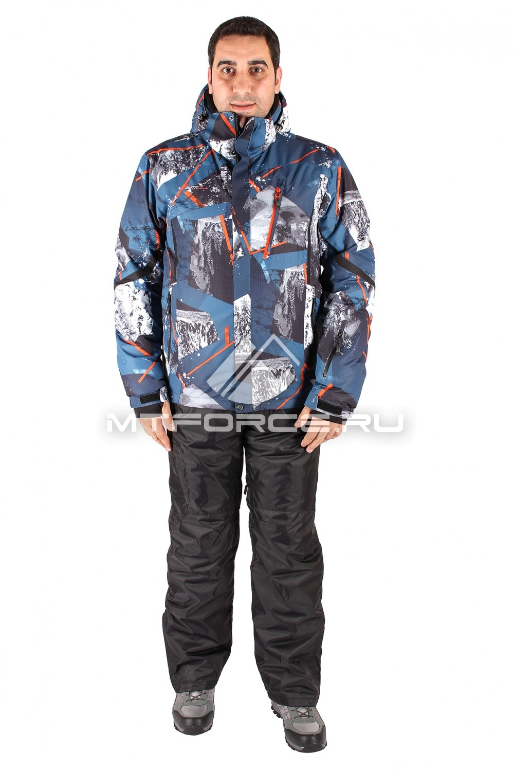 Купить                                  оптом Костюм горнолыжный мужской голубого цвета 01437Gl
