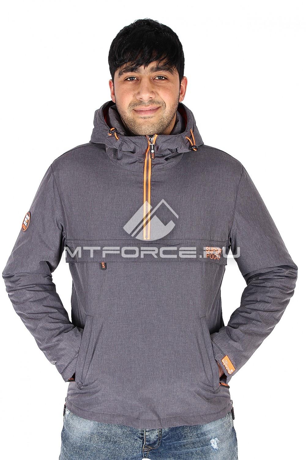 Купить                                  оптом Куртка анорак мужская темно-серого цвета 149TС