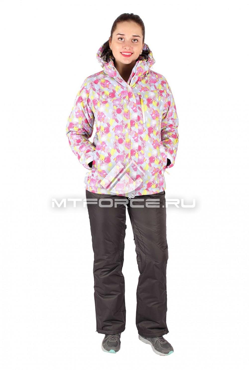 Купить  оптом Костюм горнолыжный женский серого цвета 015020Sr