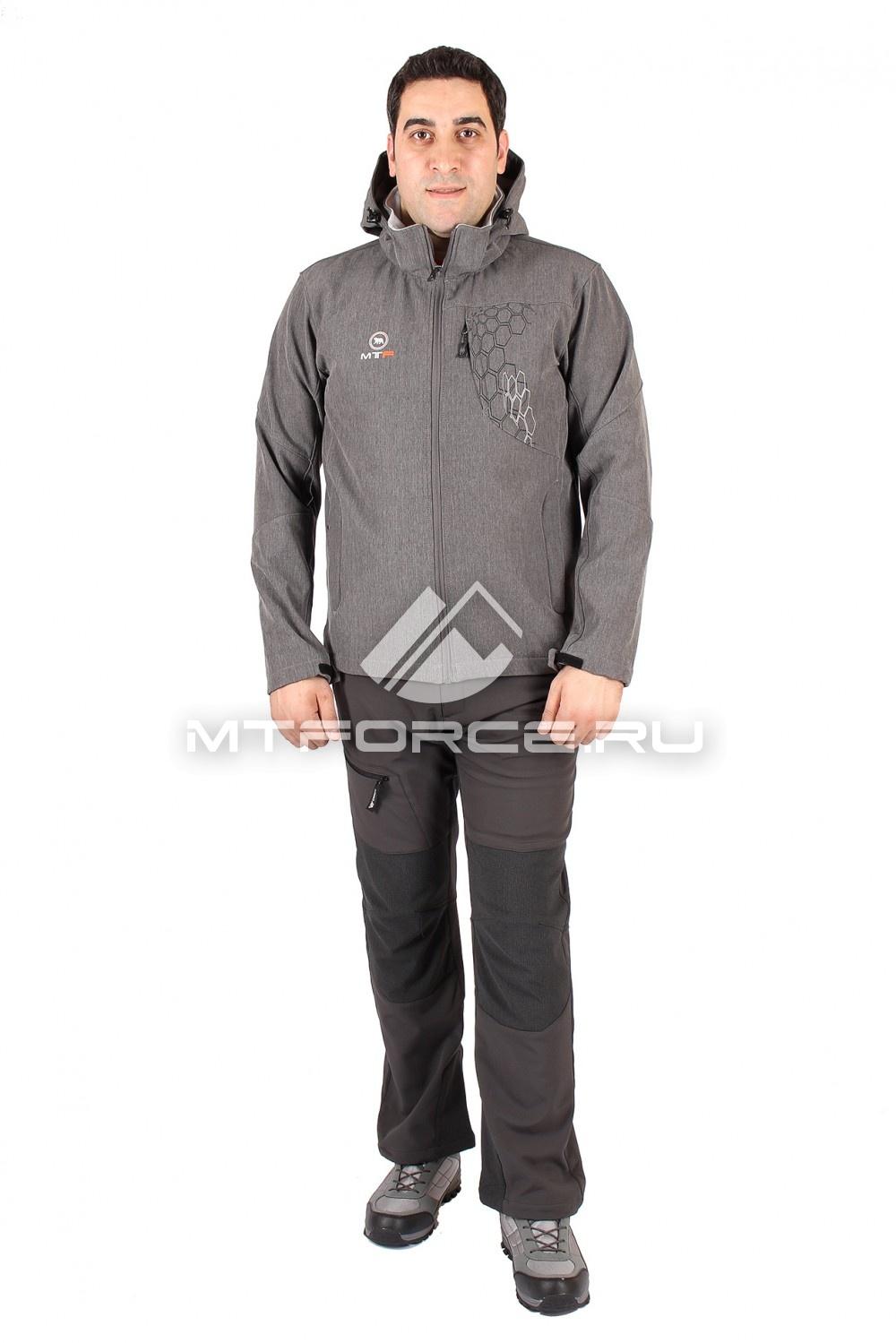 Купить                                  оптом Костюм виндстопер мужской серого цвета 1502Sr