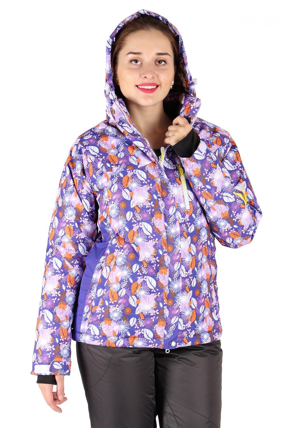 Купить                                  оптом Куртка горнолыжная женская фиолетового цвета 15020F