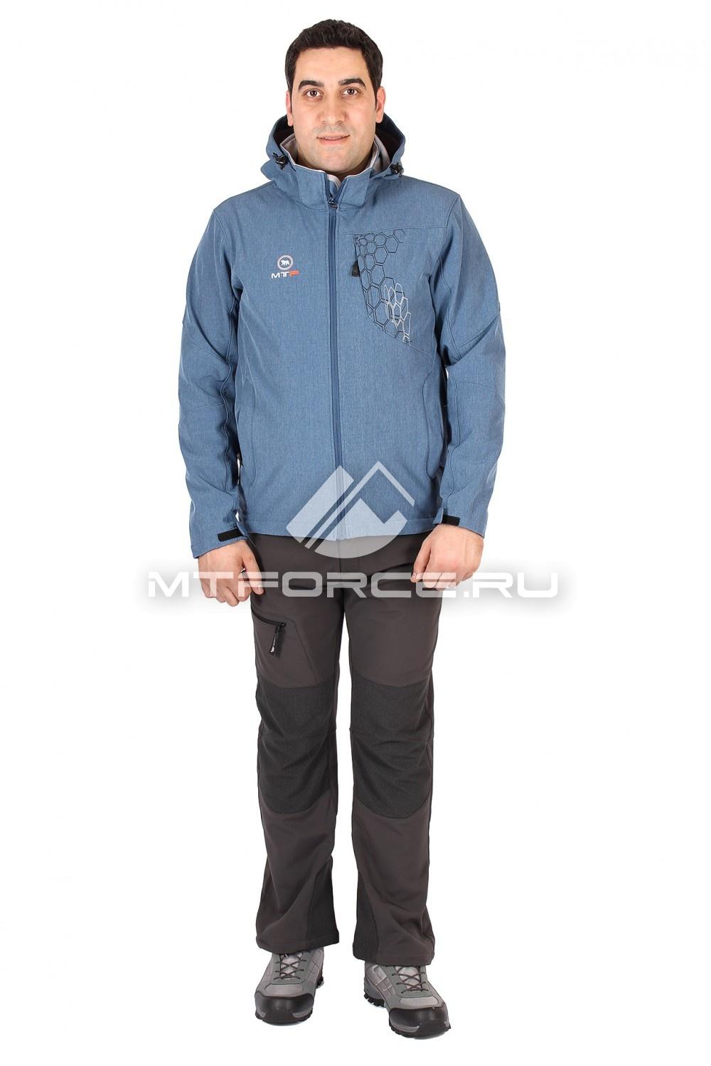 Купить оптом Костюм виндстопер мужской синего цвета 1502S