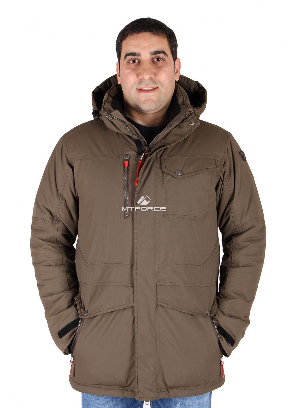 Купить                                  оптом Куртка классическая зимняя мужская цвета хаки 15039Kh в Санкт-Петербурге