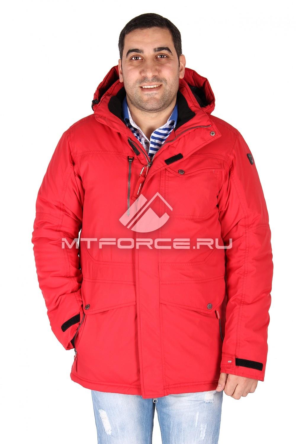 Купить                                  оптом Куртка классическая зимняя мужская красного цвета 15039Kr