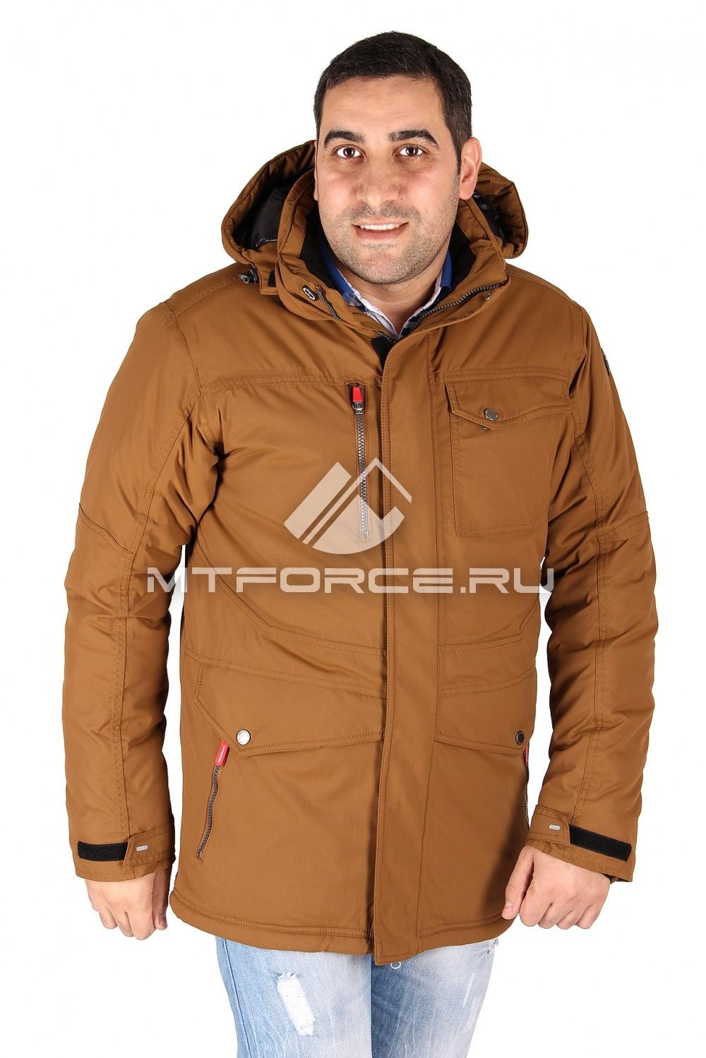 Купить                                  оптом Куртка классическая зимняя мужская коричневого цвета 15039K