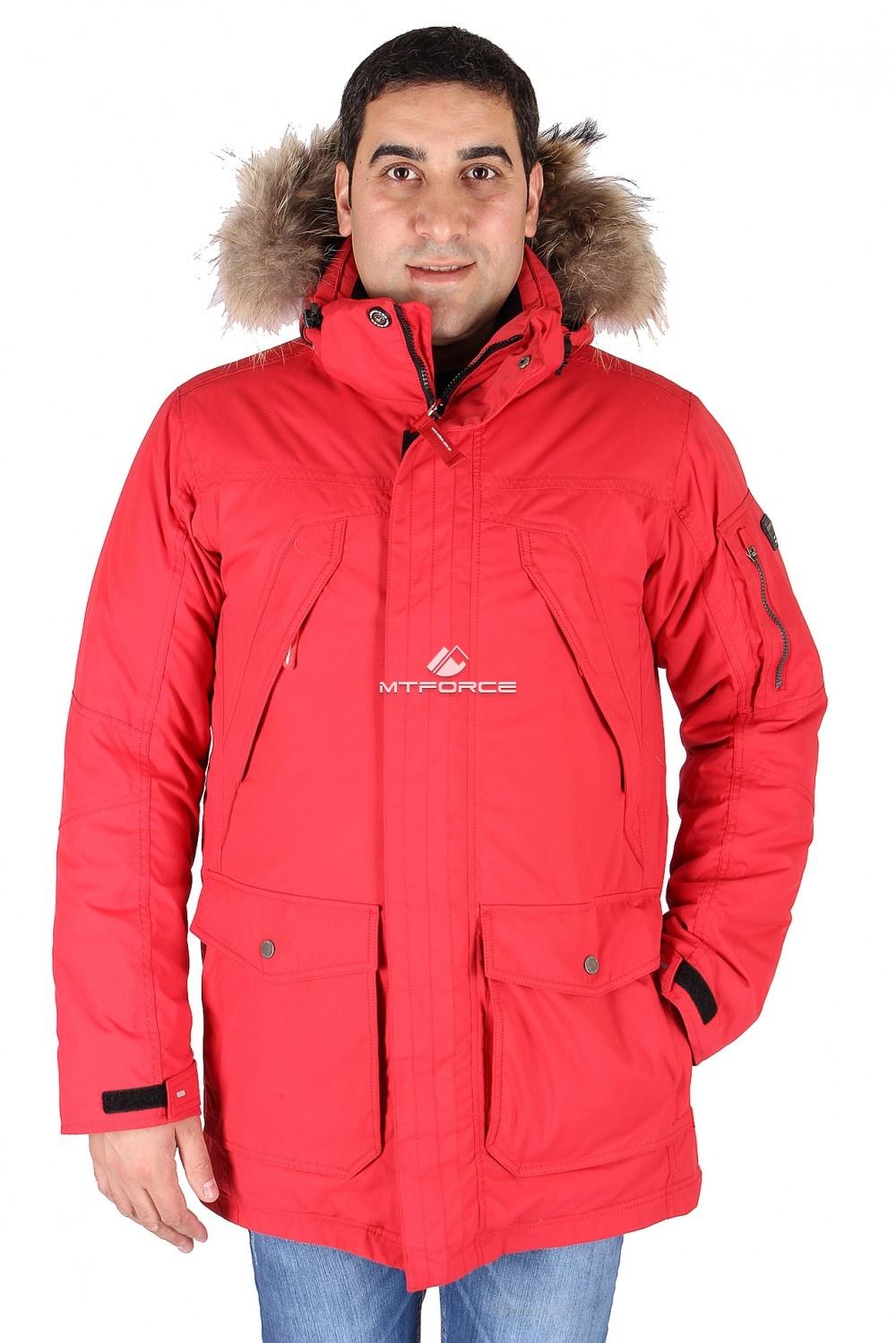 Купить                                  оптом Куртка классическая зимняя мужская красного цвета 15040Kr